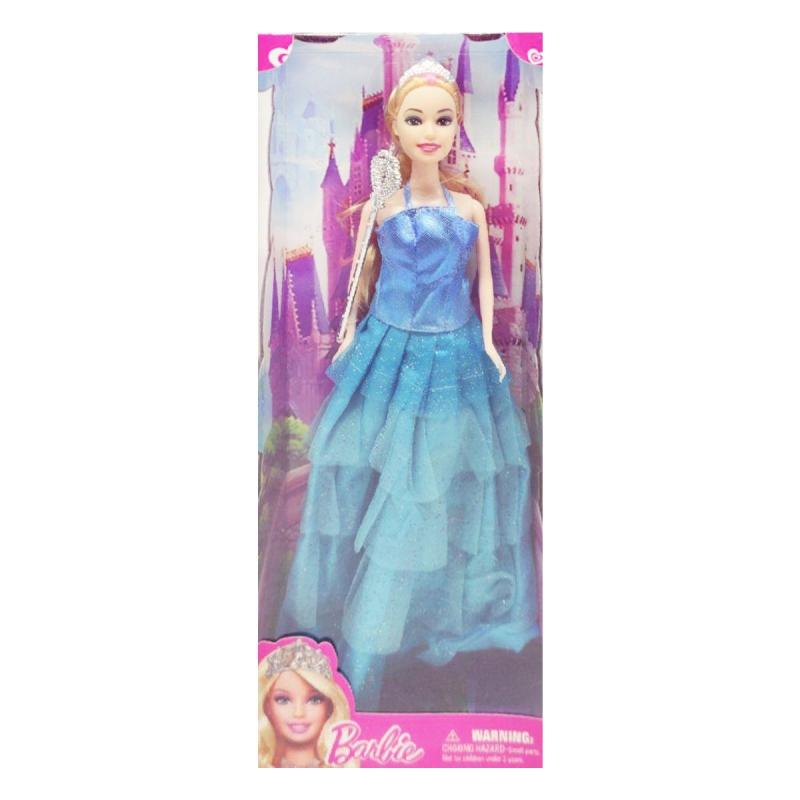 """Кукла """"Barbie, Принцесса"""" блондинка в голубом платье 8655D-8655 купить в магазине """"Пустун"""""""