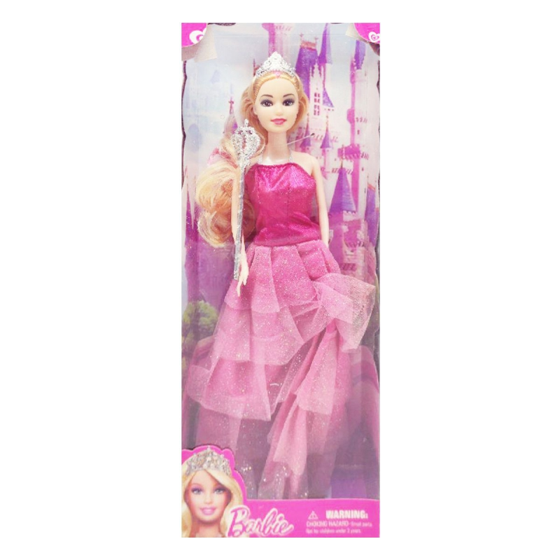 """Кукла """"Barbie, Принцесса"""" блондинка в розовом платье 8655D-8655 купить в магазине """"Пустун"""""""