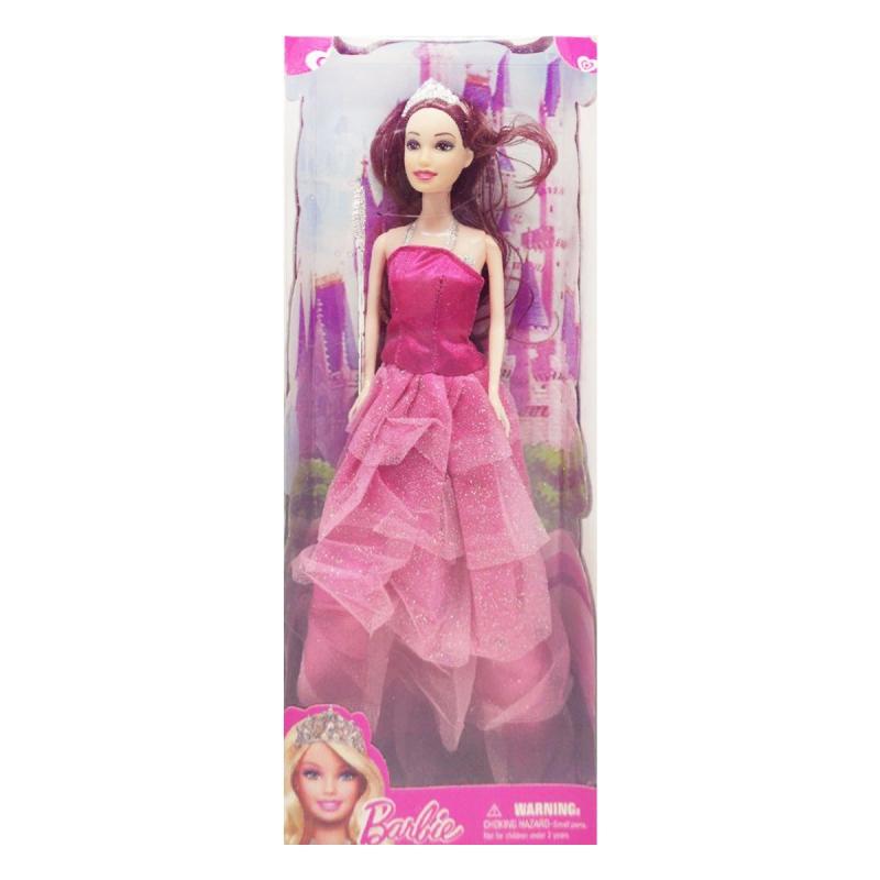 """Кукла """"Barbie, Принцесса"""" брюнетка в розовом платье 8655D-8655 купить в магазине """"Пустун"""""""