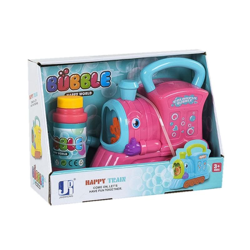 """Установка для выдувания мыльных пузырей """"Поезд"""" (розовая) P8798 купить в магазине """"Пустун"""""""