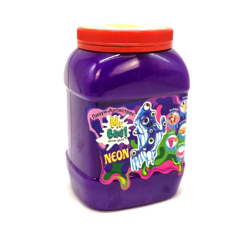 """Лизун-антистресс """"Mr. Boo: Neon"""", 1000 г (фиолетовый) 80051 купить в магазине """"Пустун"""""""