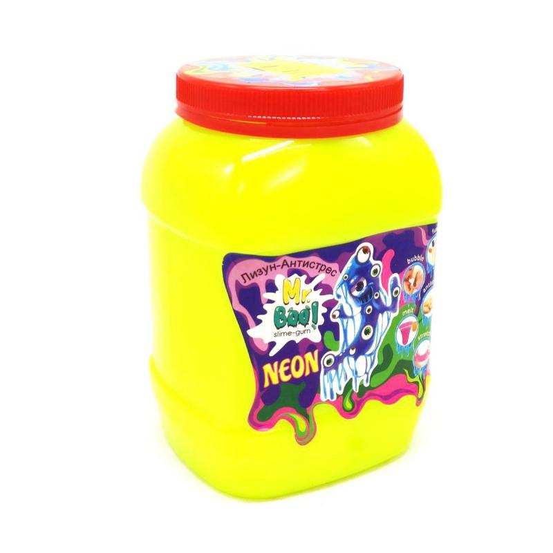 """Лизун-антистресс """"Mr. Boo: Neon"""", 1000 г (желтый) 80051 купить в магазине """"Пустун"""""""
