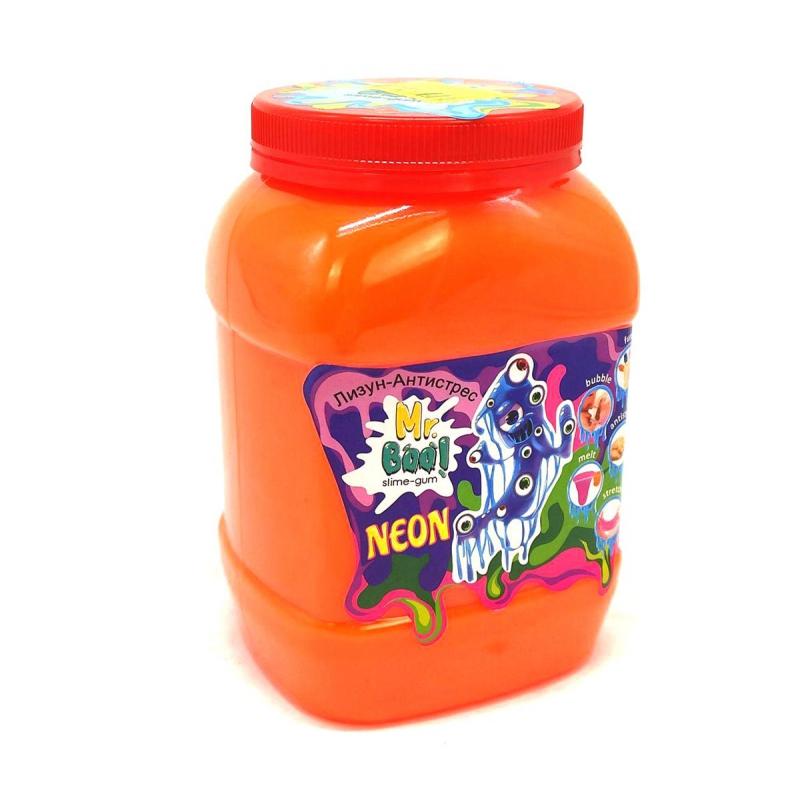 """Лизун-антистресс """"Mr. Boo: Neon"""", 1000 г (оранжевый) 80051 купить в магазине """"Пустун"""""""