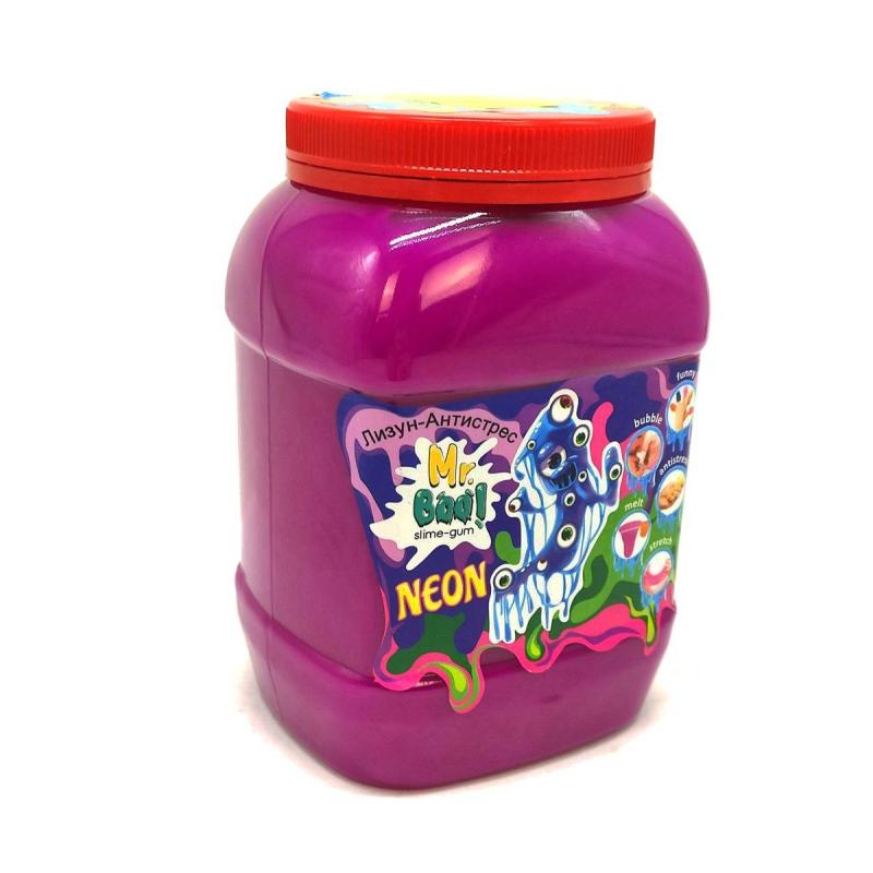 """Лизун-антистресс """"Mr. Boo: Neon"""", 1000 г (малиновый) 80051 купить в магазине """"Пустун"""""""