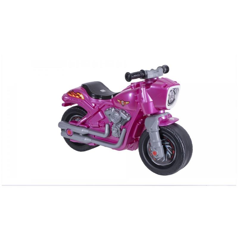 """Мотоцикл 2-х колесный с сигналом розовый 504_Р купить в магазине """"Пустун"""""""