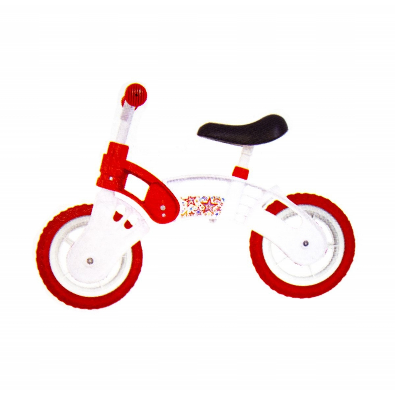 """Беговел """"Star Bike"""", 10"""" (бело-красный) KW-11-012 БК купить в магазине """"Пустун"""""""