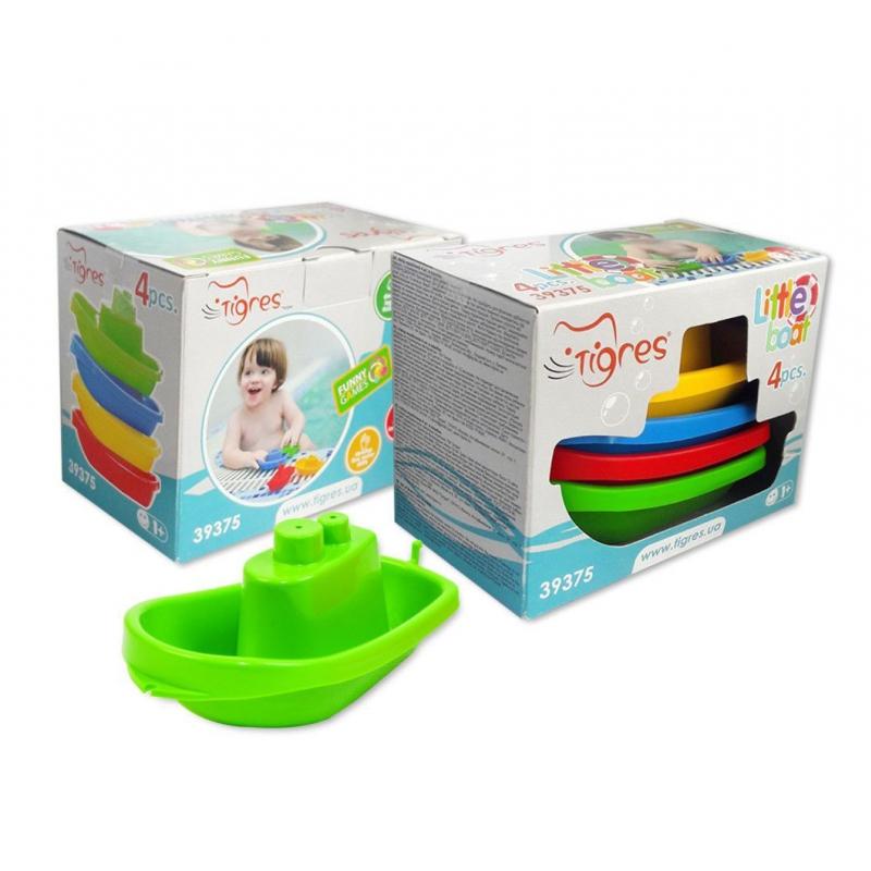 """Набор игрушек TIGRES Кораблики 4 штуки (39375) купить в магазине """"Пустун"""""""