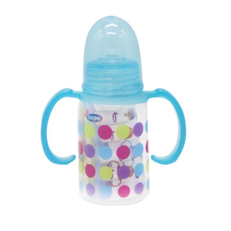 """Бутылочка для кормления, 150 мл голубой T004 купить в магазине """"Пустун"""""""