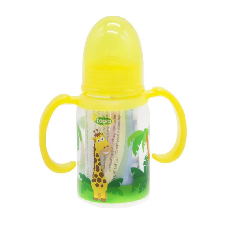 """Бутылочка для кормления, 150 мл желтый T004 купить в магазине """"Пустун"""""""