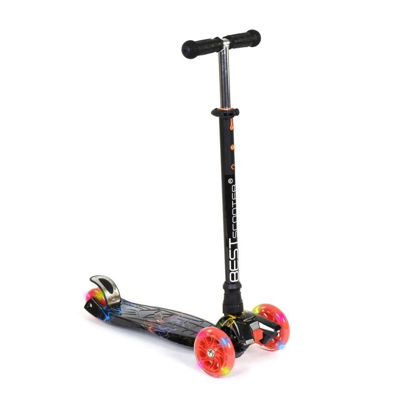 """Самокат четырехколесный """"Best Scooter"""" черный A24659/779-1308 купить в магазине """"Пустун"""""""