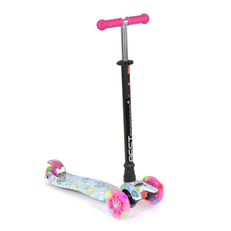 """Самокат четырехколесный Best Scooter розовый купить в магазине """"Пустун"""""""