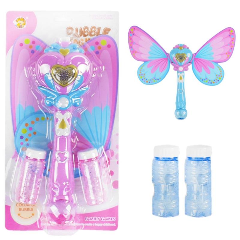 """Мыльные пузыри """"Волшебная палочка: Бабочка"""" розовый MY112Y-2 купить в магазине """"Пустун"""""""