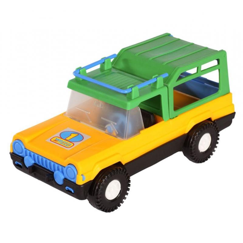 """Машина пластиковая Сафари жёлтая 39005 купить в магазине """"Пустун"""""""
