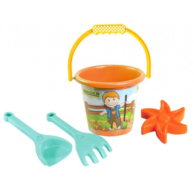 """Набор для песка малый, 4 эл  оранжевая 39062 купить в магазине """"Пустун"""""""