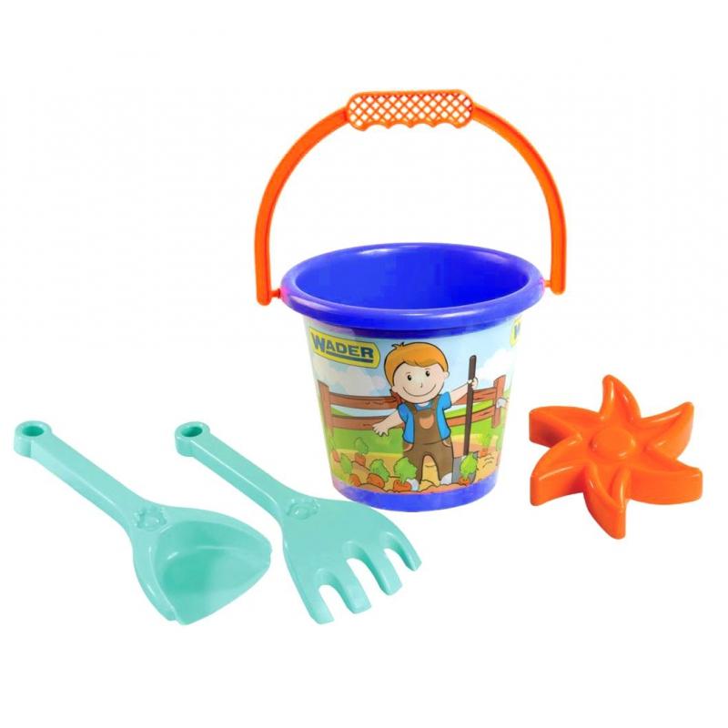 """Набор для песка малый, 4 эл  синяя 39062 купить в магазине """"Пустун"""""""