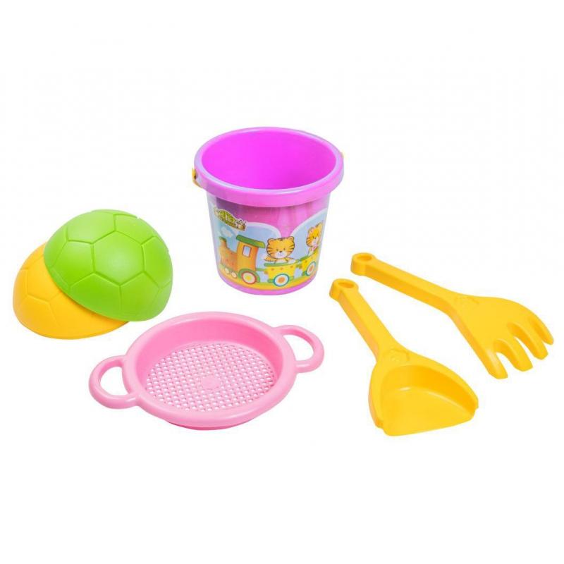 """Песочный набор """"Тигренок""""  розовый 39032 купить в магазине """"Пустун"""""""