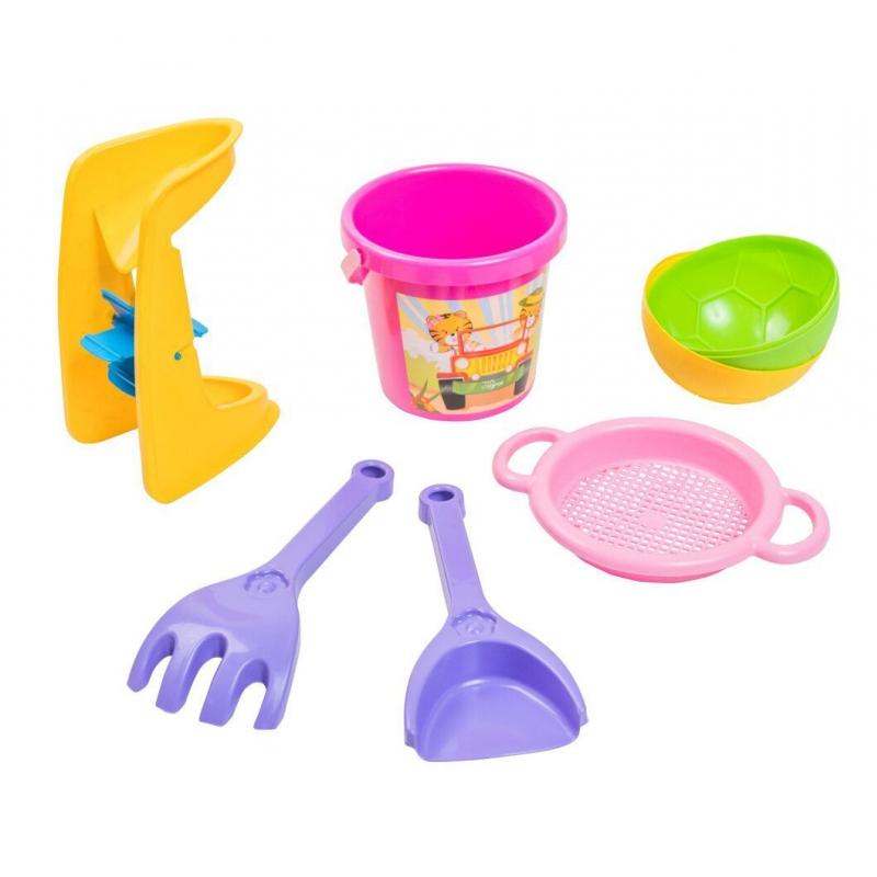 """Песочный набор """"Тигренок"""" розовый 39035 купить в магазине """"Пустун"""""""