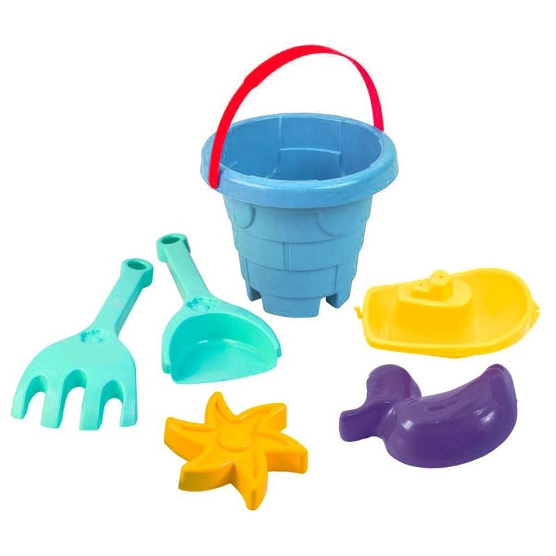 """Песочный набор """"Башня"""" голубой 39304 купить в магазине """"Пустун"""""""