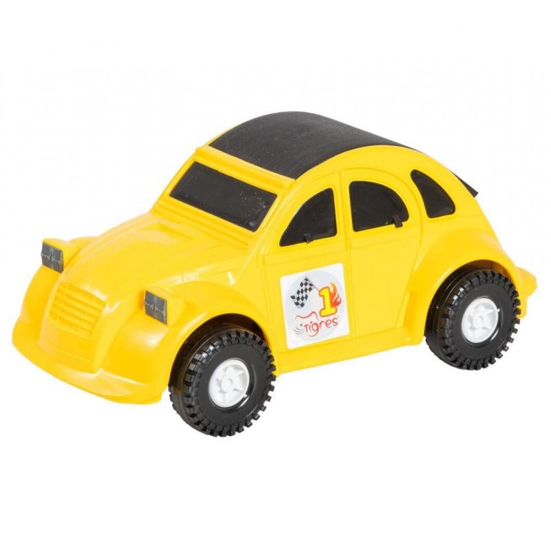 """Машина пластиковая Volkswagen Beetle жёлтая 39011 купить в магазине """"Пустун"""""""