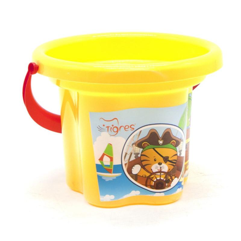 """Ведро пластиковое """"Цветочек"""", 1,5 л желтое 39628 купить в магазине """"Пустун"""""""