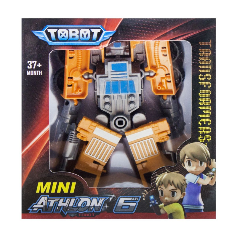 """Игрушка-трансформер """"TOBOT"""" оранжевый с синим 128 купить в магазине """"Пустун"""""""