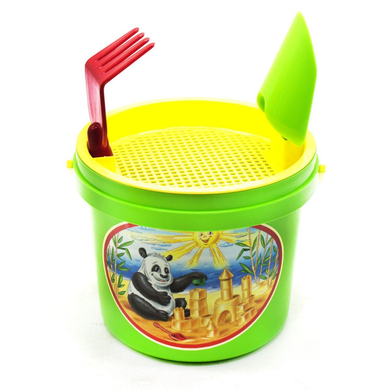 """Песочный набор """"Панда"""" зеленый 0460 купить в магазине """"Пустун"""""""