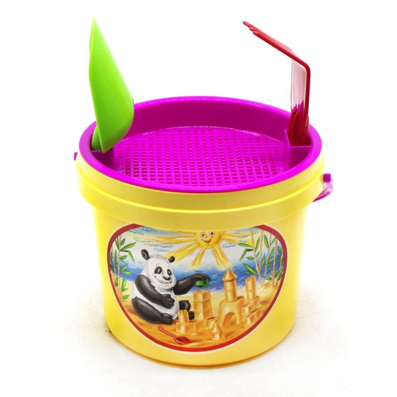"""Песочный набор """"Панда"""" желтый 0460 купить в магазине """"Пустун"""""""