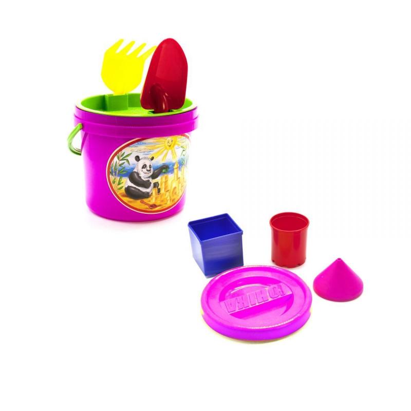 """Песочный набор """"Панда"""" розовый 0491 купить в магазине """"Пустун"""""""