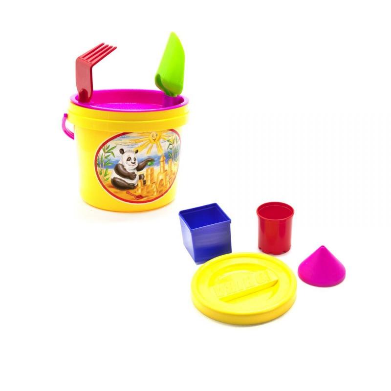 """Песочный набор """"Панда"""" желтый 0491 купить в магазине """"Пустун"""""""