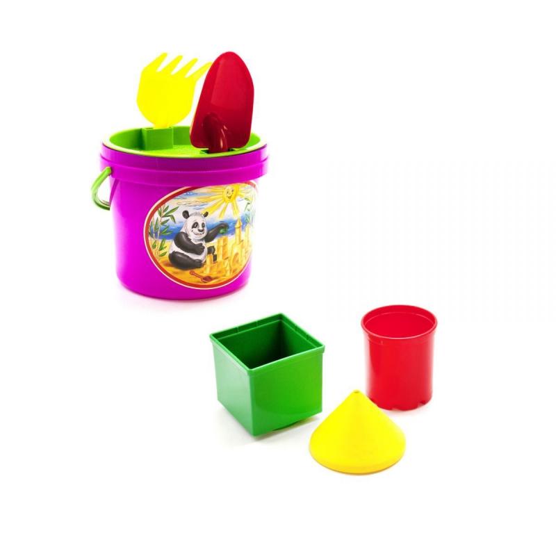 """Песочный набор, 7 предметов (розовый) 0484 купить в магазине """"Пустун"""""""