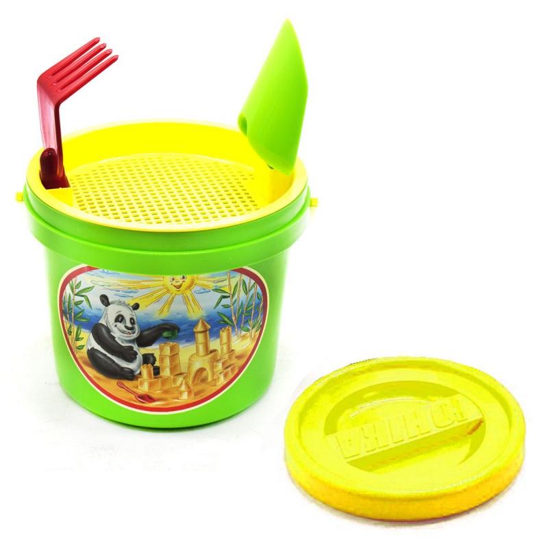 """Песочный набор (4 предмета) зеленый 0477 купить в магазине """"Пустун"""""""