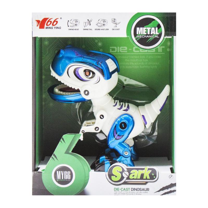 """Динозавр """"Тираннозавр"""" со световыми и звуковыми эффектами (синий) MY66-Q1203 купить в магазине """"Пустун"""""""