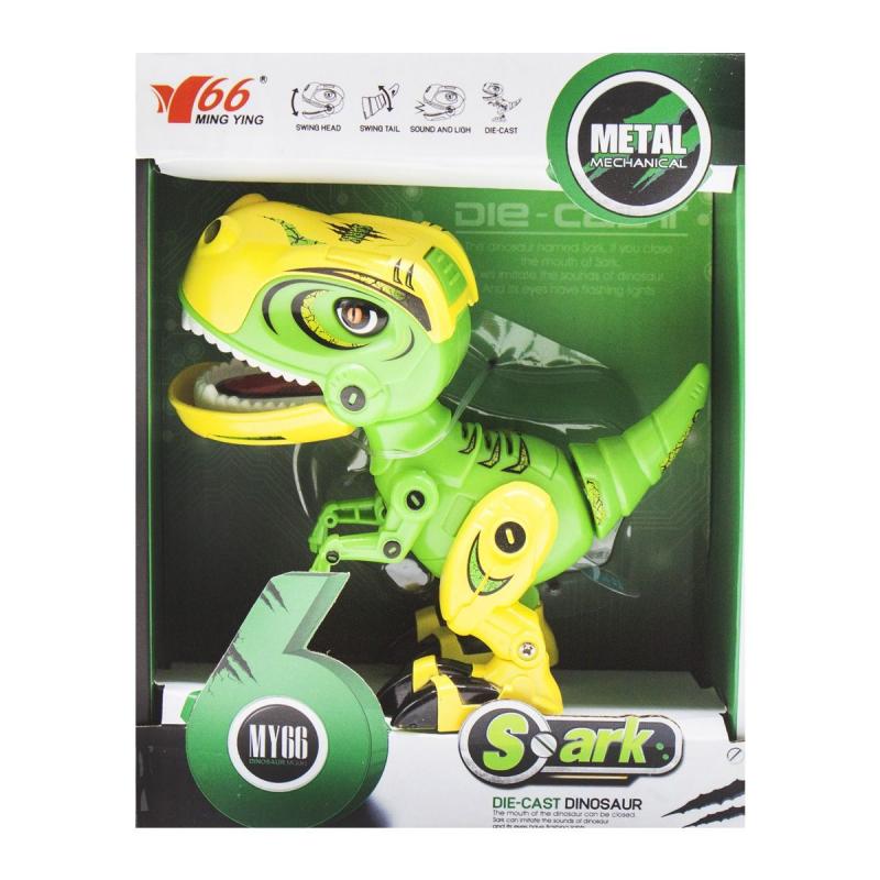 """Динозавр """"Тираннозавр"""" со световыми и звуковыми эффектами (зелёный) MY66-Q1203 купить в магазине """"Пустун"""""""