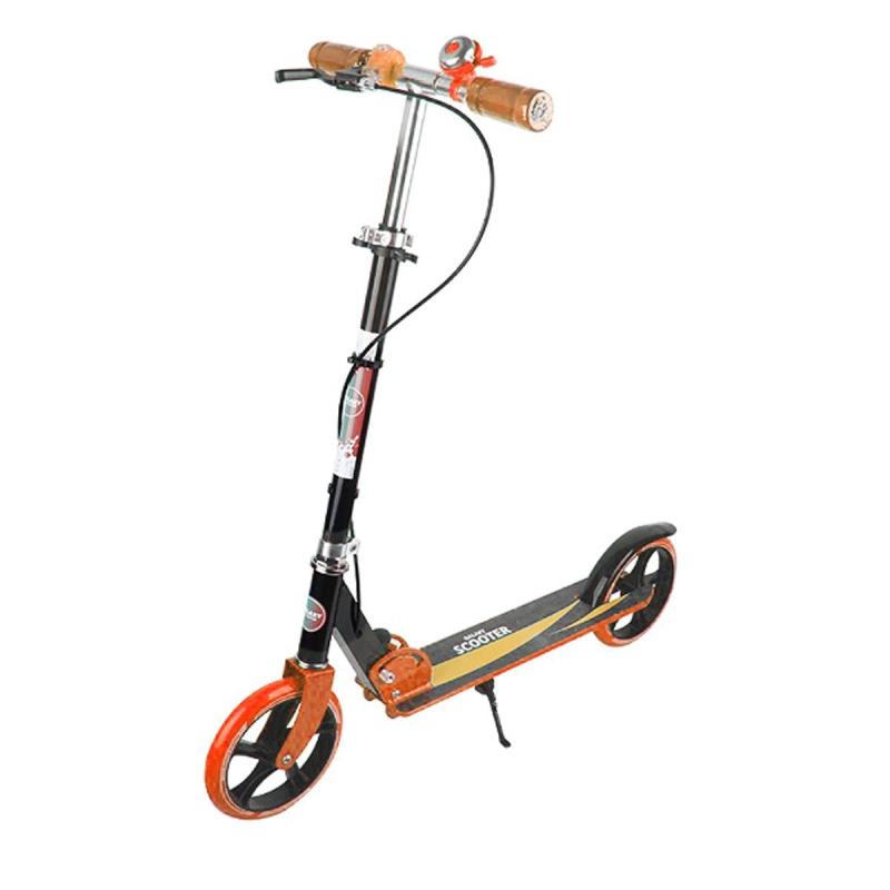 """Самокат двухколесный оранжевый GS-0014 купить в магазине """"Пустун"""""""
