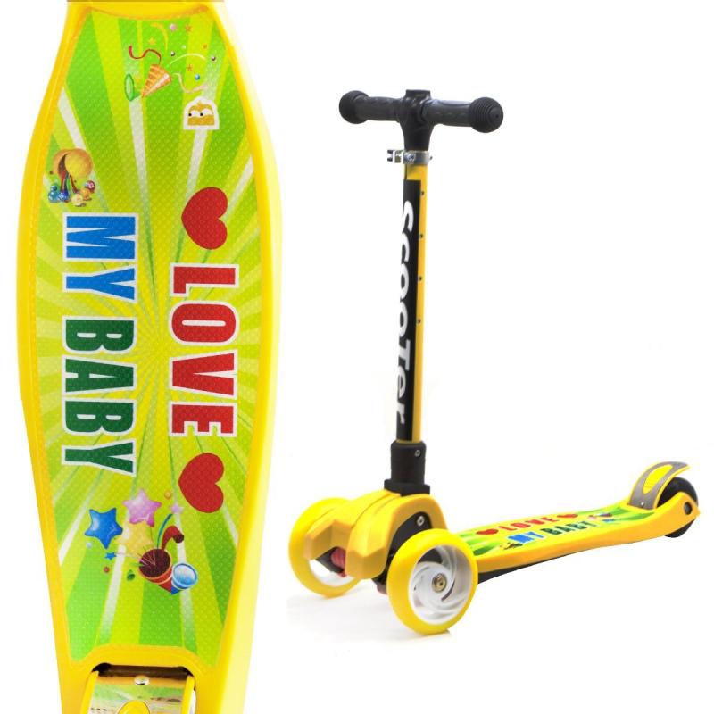 """Самокат четырехколесный """"Scooter: Love my baby"""" GS-0040 купить в магазине """"Пустун"""""""
