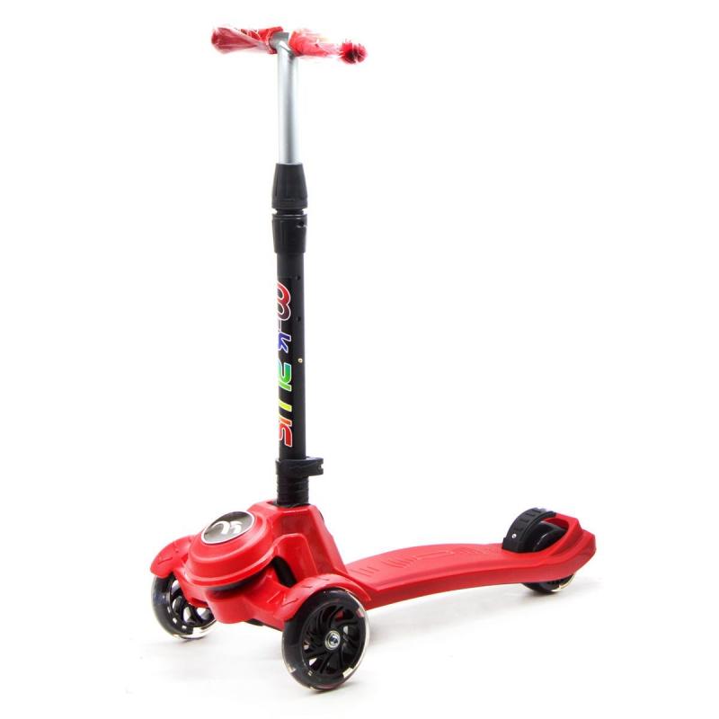 """Самокат трехколесный """"Scooter M-K PLUS"""" (красный) GS-0041 купить в магазине """"Пустун"""""""