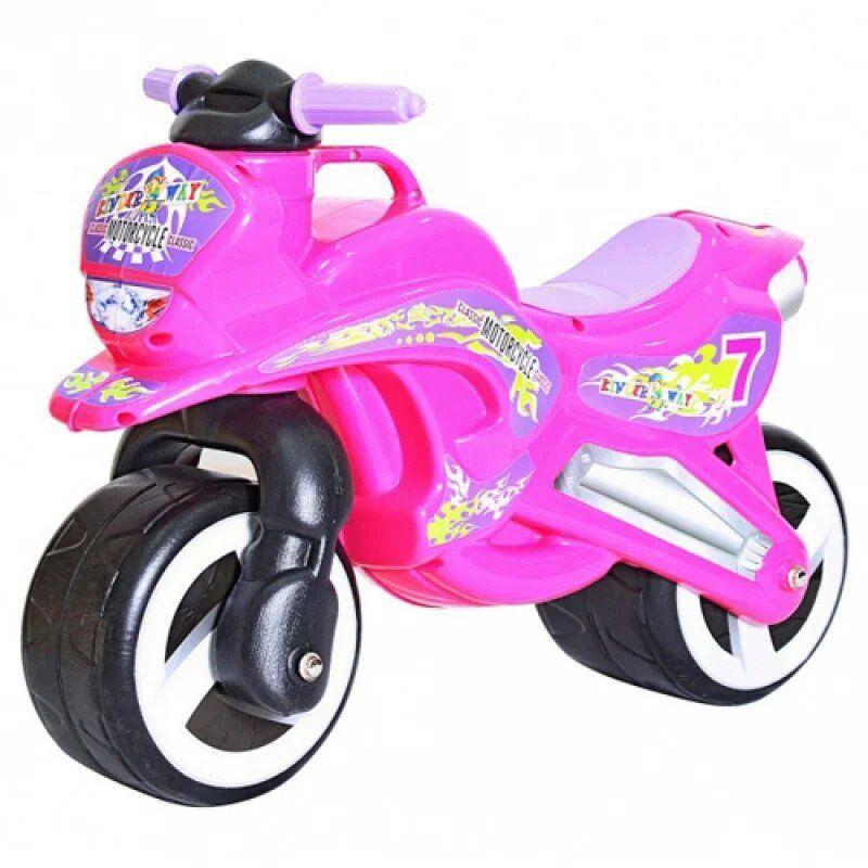 """Каталка """"Мотоцикл"""" (розовый) KW-11-006 купить в магазине """"Пустун"""""""