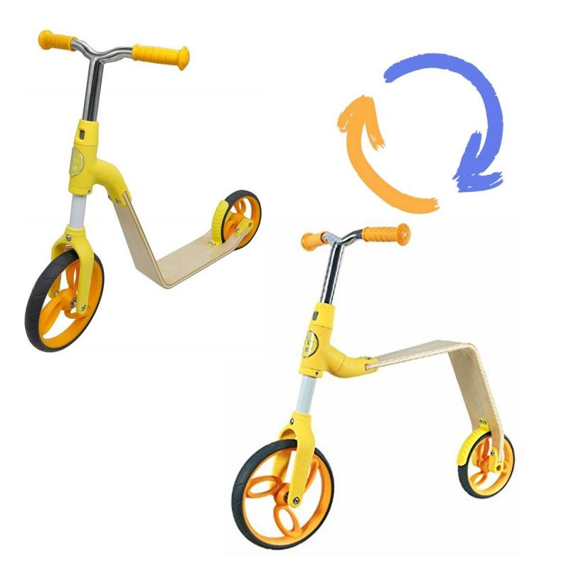 """Беговел-самокат 2 в 1 (желтый) B01-Yellow купить в магазине """"Пустун"""" Фото 2"""