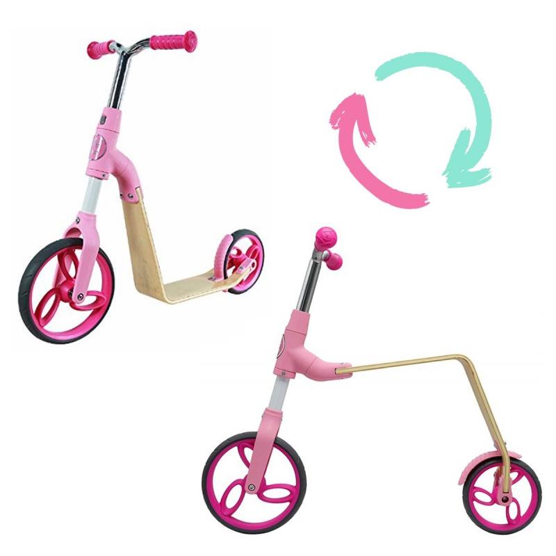 """Беговел-самокат 2 в 1 (розовый) B01-Pink купить в магазине """"Пустун"""""""