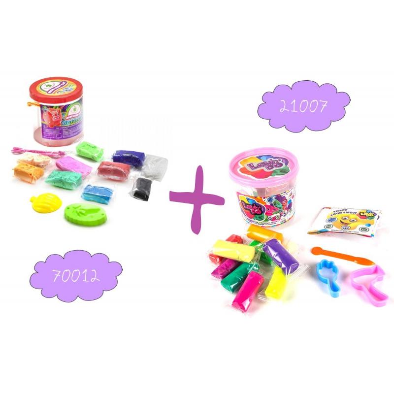 """Набор легкого магического пластилина """"Moon Light Clay"""", 10 цветов + Набор теста для лепки """"Lovindo для девочек"""" 41077 купить в магазине """"Пустун"""""""
