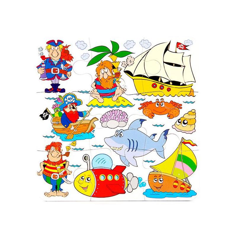 """Пазлы мягкие Пираты (914) купить в магазине """"Пустун"""""""