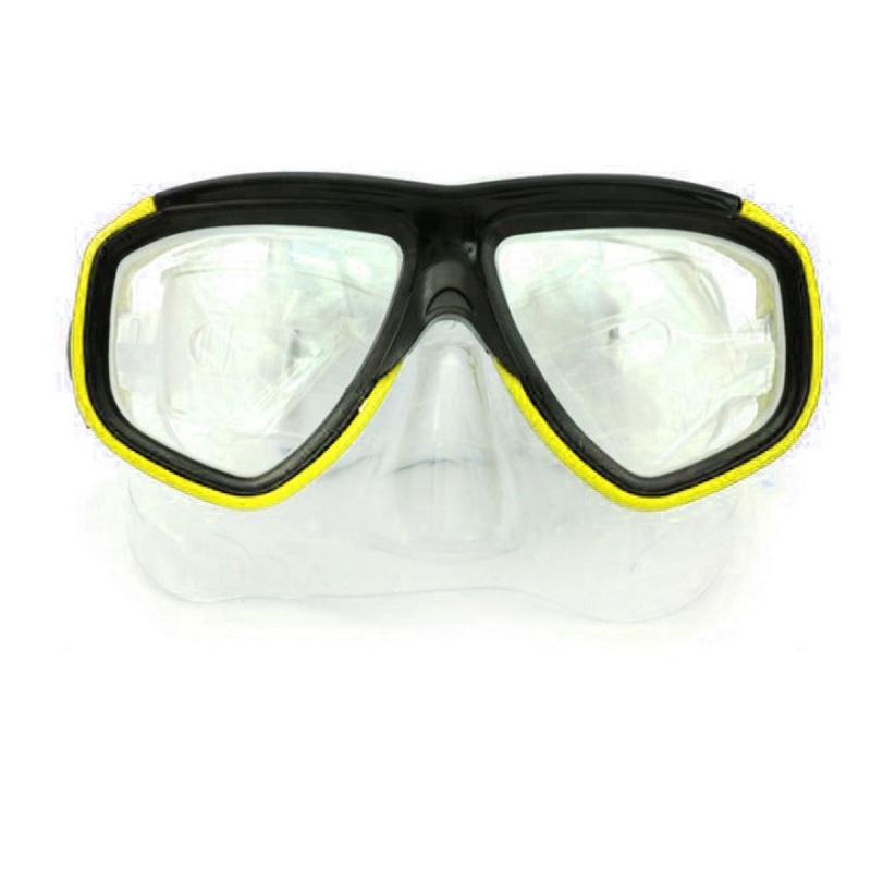 """Маска для плавания Dive Series, желтый 0805B купить в магазине """"Пустун"""""""