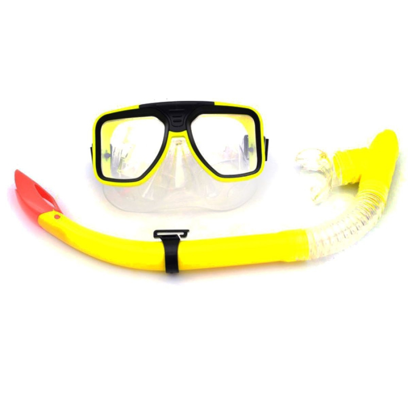 """Маска и трубка для плавания, желтый M115S7 купить в магазине """"Пустун"""""""