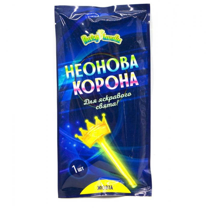"""Неоновая корона, желтая PL118 купить в магазине """"Пустун"""""""