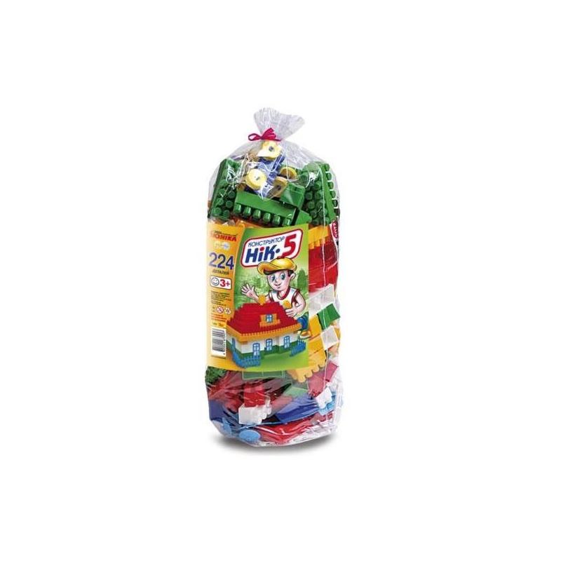 "[0804] Конструктор дитячий ""НІК-5"" (224 дет.) шитий кульок  4820041670804 купить в магазине ""Пустун"""