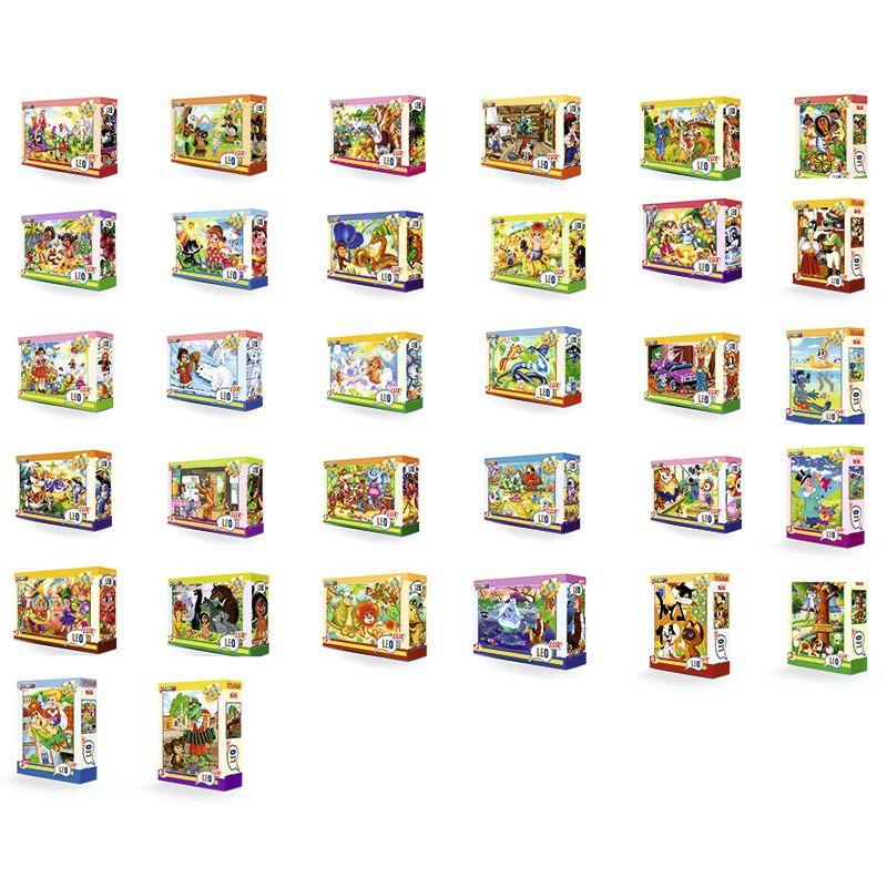 """Пазли 54 ел. """"MINI"""", LEO LUX """"Улюблені мультфільми"""", 32 шт в блоці, 12 блоків в упаковці купить в магазине """"Пустун"""""""