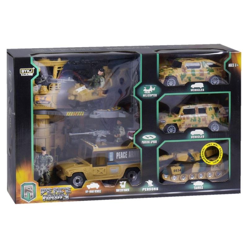 """90800 [6648B] Военный набор 6648 В (8) свет, звук, в коробке [Коробка]  6965374400198 купить в магазине """"Пустун"""""""