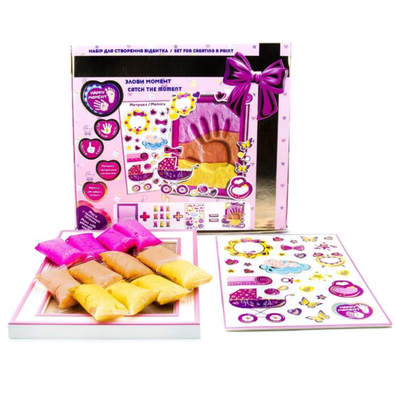 """[70032] Набір дл створення відбитка з легкого стрибаючого пластиліну ТМ Moon Light Clay Create fun для дівчинки купить в магазине """"Пустун"""""""