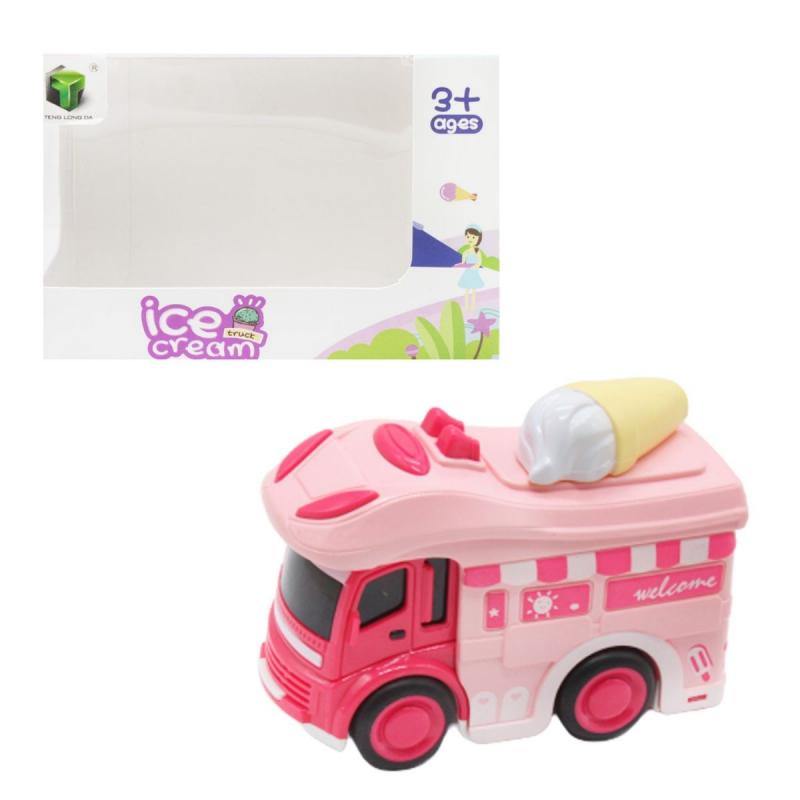 """Машинка """"Мороженое"""", розовый 2618 купить в магазине """"Пустун"""""""