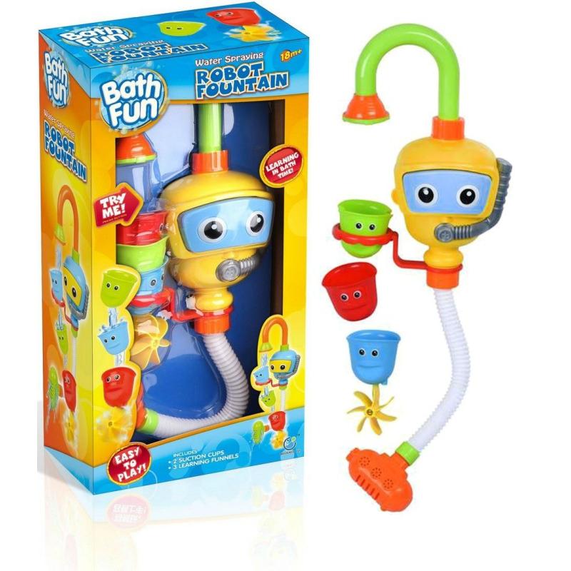 """Игрушка для купания Кран-водопад (жёлтый) 9908 купить в магазине """"Пустун"""""""